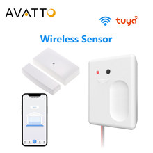 AVATTO Tuya Smart WiFi Garage Door Opener Controller with No Wire Wireless sensor, Smart Life APP Works for Alexa/ Google Home