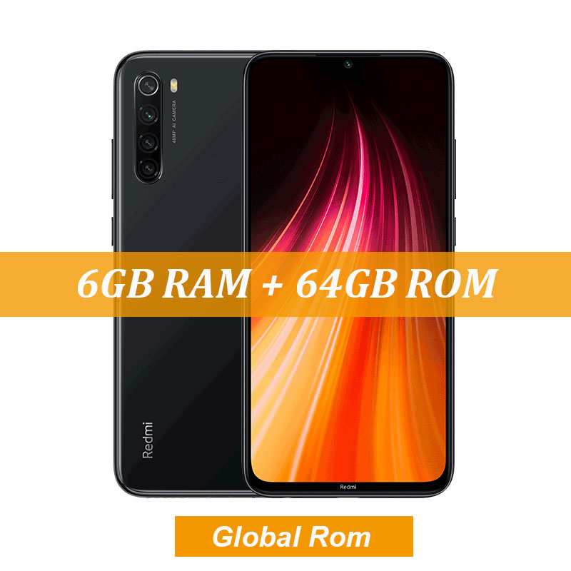 "New Global ROM Xiaomi Redmi Note 8 4GB 64GB 48MP Quad Camera Smartphone Snapdragon 665 Octa Core 6.3"" FHD Screen 4000mAh - Цвет: 6GB Gray"