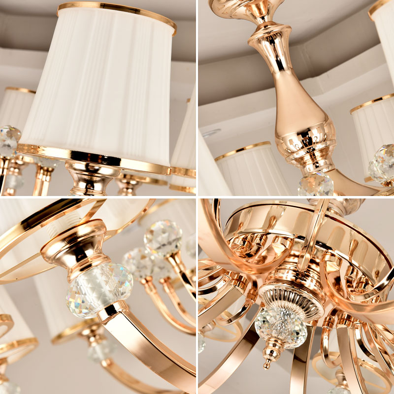 Luxury New K9 Modern Chandelier Lustre Crystal Chandeliers 3/6/8/10/Arm Lustres De Cristal Chandelier AC110V/220V lighting