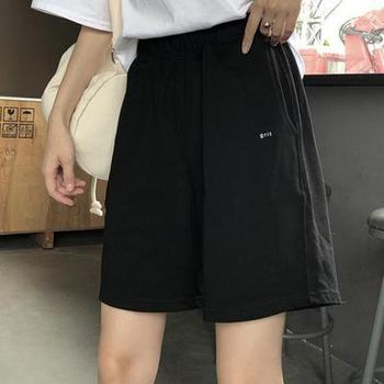 Casual Elastic Waist Shorts Women Fitness Black Biker Shorts High Waist Summer 2020 Woman Korean Summer Shorts Ladies