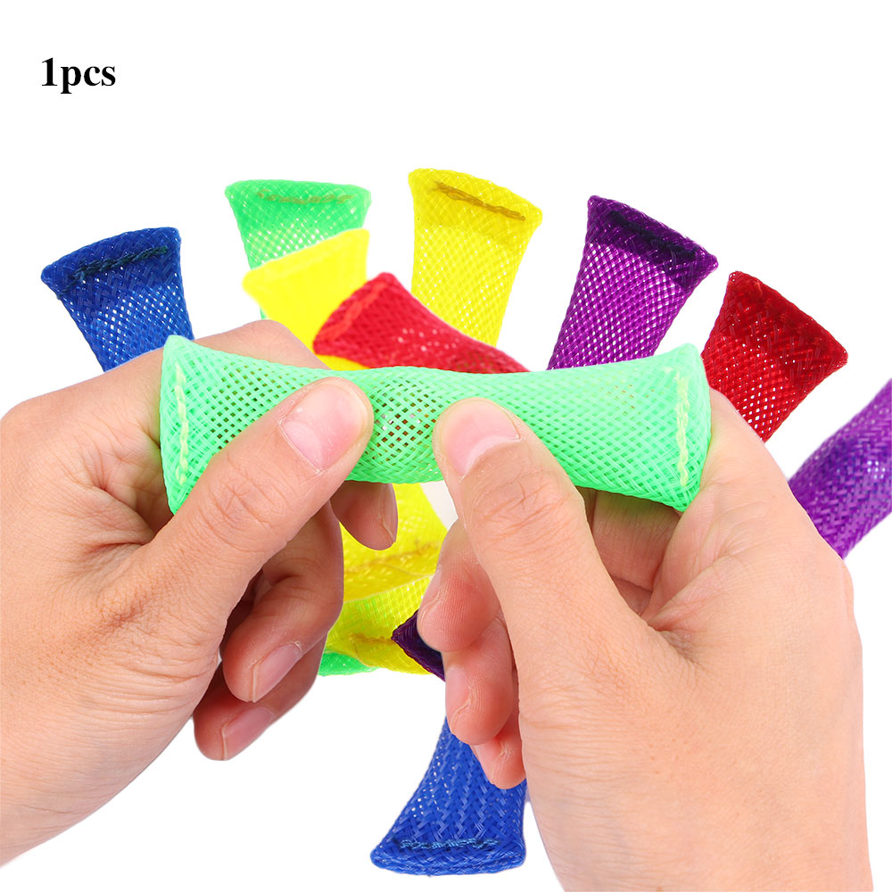 Sensory Toys Marbles Ball Autism ADHD Anxiety Therapy Toys EDC Stress Relief Hand Fidget Toys Braided Mesh Easy Bend With Marble