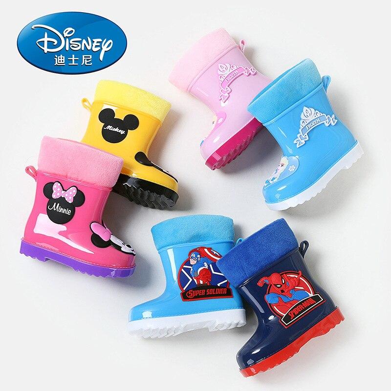 Disney Rain Boots Kids Non-slip Rubber Boots Water Girls Boy Boots  Rain Shoes