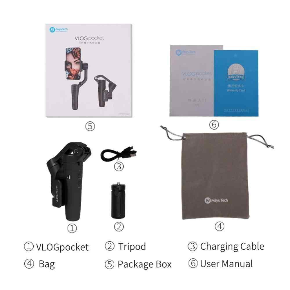 Feiyu Tech Vlog Saku Handheld Telepon Gimbal Mini Smartphone Stabilizer Tongkat Selfie untuk iPhone X 8 7 Huawei P20 Serta Samsung note9