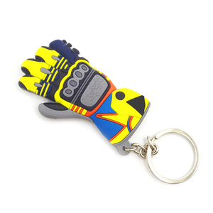 Image 3 - Glove Shape Motorcycle car keychain 3D  key ring for bmw key chain Yamaha VR46 llavero moto vespa Honda