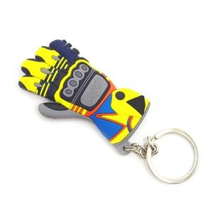 Image 3 - Rubber Motorcycle Accessories Moto Key chian KeyChain 3D KeyRing llavero Chaveiro Key Holder FOR BMW Honda Suzuki Kawasaki Fans