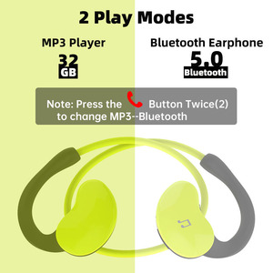 Image 2 - Arikasen sport MP3 Player headphone 32 GB waterproof bluetooth earphone 10 hours time wireless headset with micphone stereo
