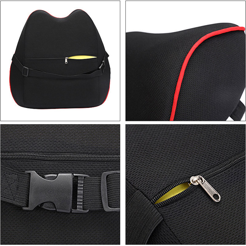 Image 5 - Car Seat Headrest Car Neck Pillows Filled Fiber Cushion Pad Memory Foam Head Rest Auto For Travel Support Car Seat Accessories-in Neck Pillow from Automobiles & Motorcycles