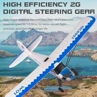 Avión W01 EPP RC, 2,4 GHz, 3 CANALES, 6 ejes, giroscopio, avión planeador J3, modelo de avión, juguetes de vuelo para adultos y niños
