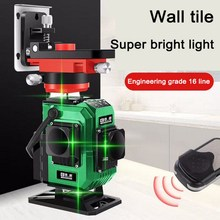 4D 16 Lines Green Laser Level Upper Wall bracket Lifting Platform Powerful Beam Line 360 Horizontal And Vertical Cross
