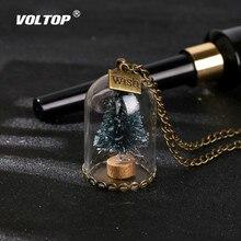 עץ חג המולד זוהר מפתח שרשרת רכב קישוטי זכוכית בקבוק Snowflake מפתח טבעת רכב תליון שרשרת אביזרי אופנה