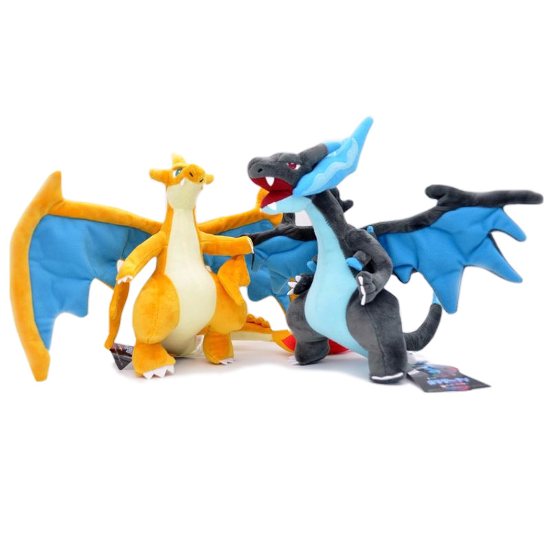 25CM Anime Figure Charizard Plush Dolls Mega Charizard X&Y Soft Stuffed Animals Peluche Doll Kids Children Christmas Gift