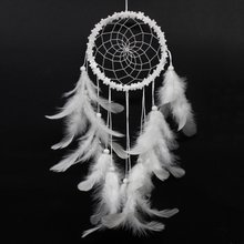 Minnaar Stijl Hanger Feather Dream Catcher Dreamcatcher Windgong Indian voor Thuis Auto Wanddecoraties Ornament(China)