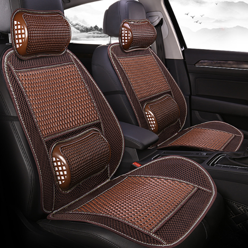 Universal Summer Cooling Lumbar Massage Cushion Breathable Car Seat Covers Mat Cool Pad Car Interior Seat Cover Mar19