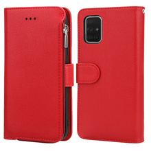 Zipper Luxury Leather Wallet Case for Samsung Galaxy A51 A71