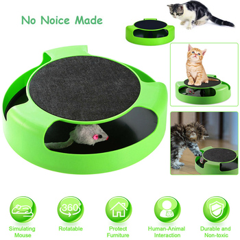 Interactive Cat Toys Rotating Mouse Hide&Seek Automatic Pet Toys Catch Mice Training Toy For Cat D30