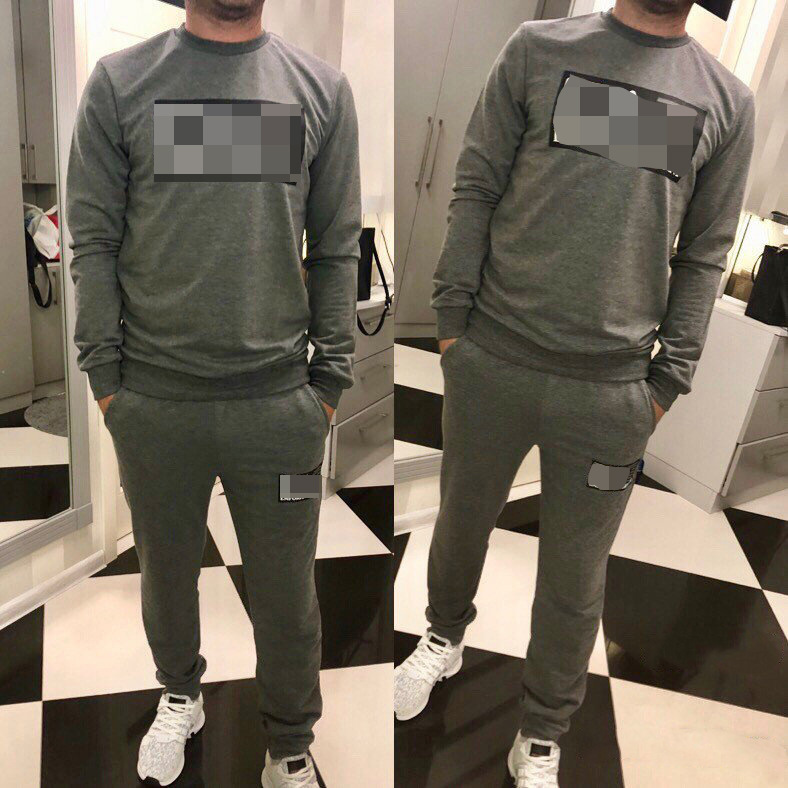 2019 Europe And The United States New Cross-border Fashion Men's Sportswear And Leisure Suit 2-piece Set Men Track Suit