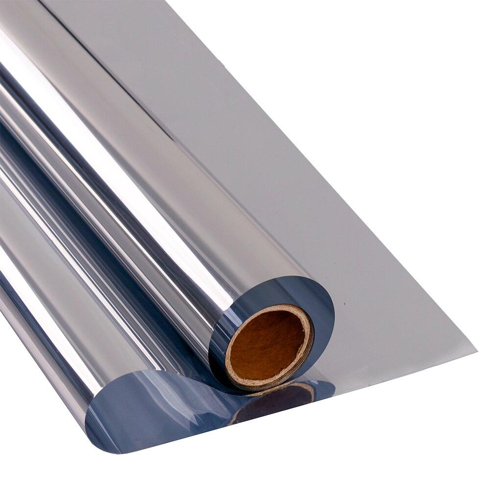 Sunice Window Film Anti-UV One Way Mirrored Silver glass sticker Heat Control Home Privacy Glass Window Tint Vinyl 0.7x10m
