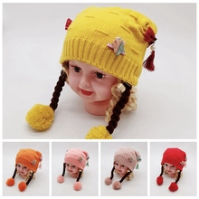 купить Baby Hat Kids Girl Boy Infant Winter Warm Crochet Knit Beanie Cap Black Pink White Green онлайн