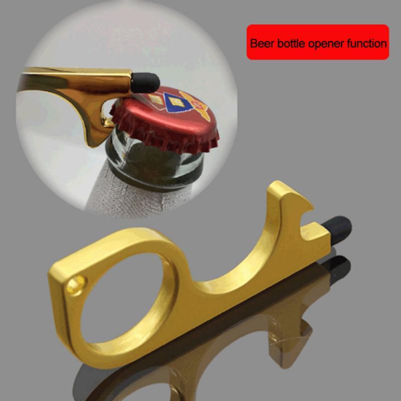 Beer Trigger Touch Screen Key Chain Anti Contact Door Opener