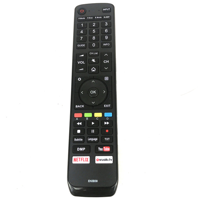 Nova substituição en3b39 para hisense lcd led tv controle remoto h45n5750 h75n6800