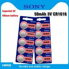 10 pçs sony original cr1616 botão bateria celular para relógio de carro remoto chave cr 1616 ecr1616 CR1616-1W 3v baterias de lítio