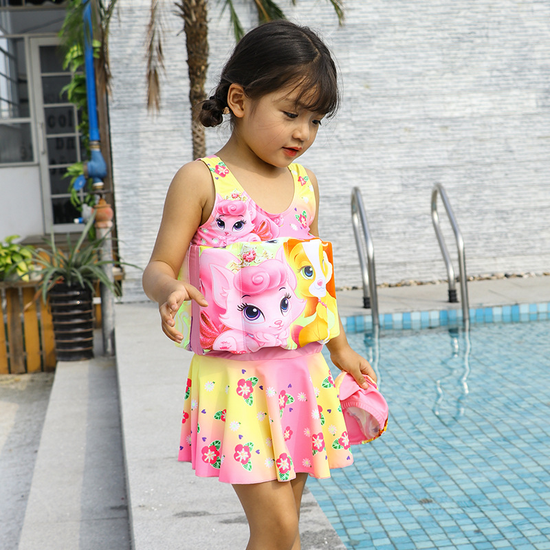 Wave Die Yi CHILDREN'S Buoyancy Swimsuit Baby BABY'S Bathing Suit One-piece Floating Bathing Suit
