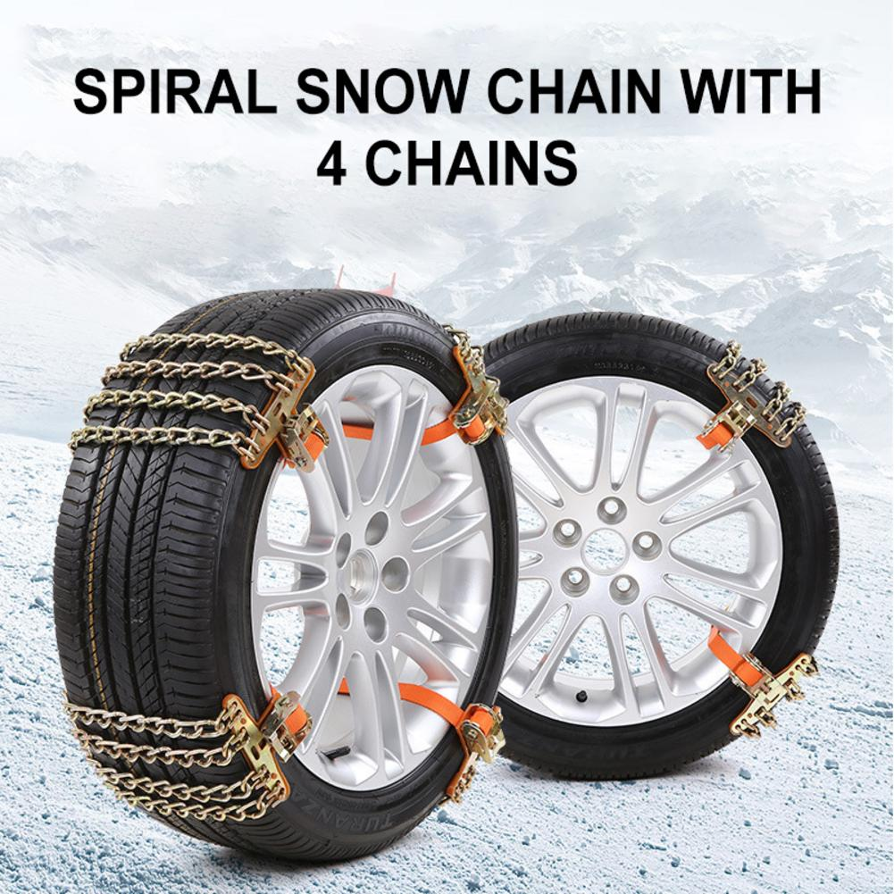 Car Snow Chains For Ice/Snow/Mud Road Desert Stainless Steel Anti-skid Emergency Road Rescue Tire Chain for SUV Pickup Truck Car image
