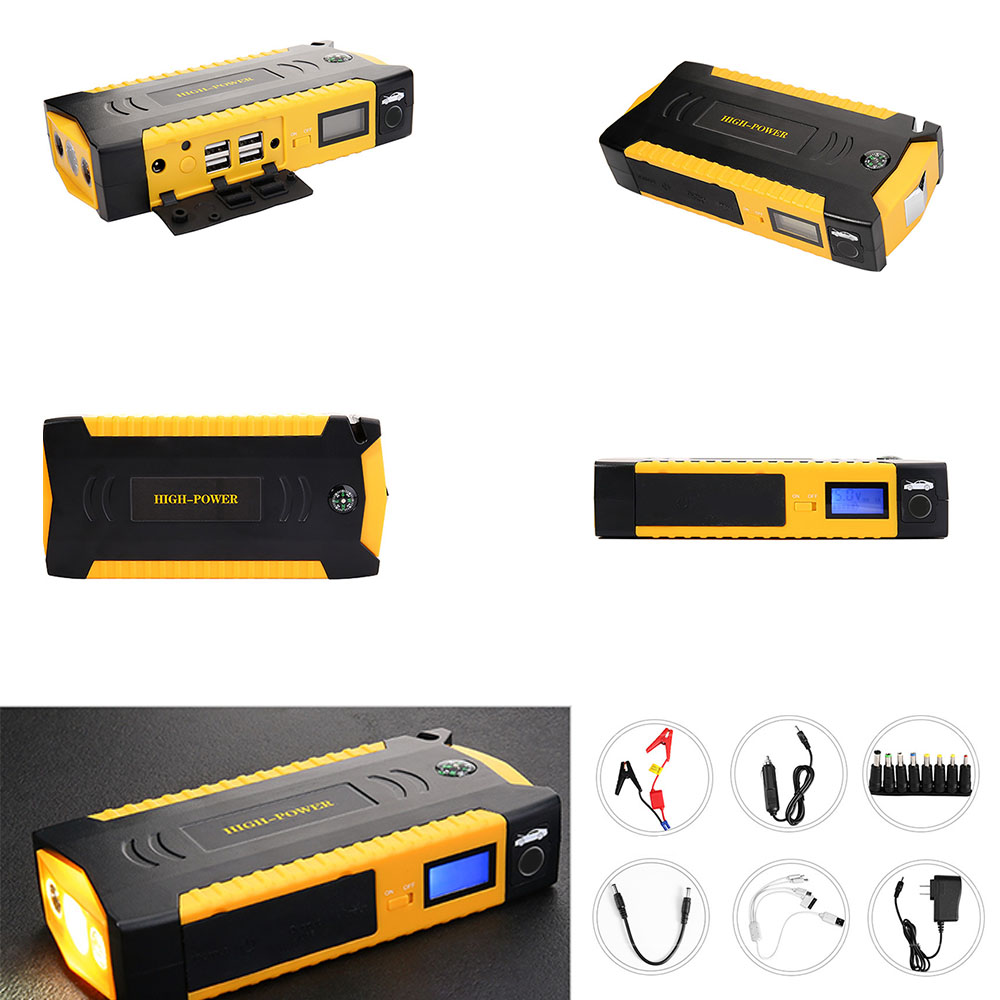 12V 600A 82800mAh Starting Device Power Bank Jump Starter Car Battery Booster Emergency Charger Car Battery Booster image