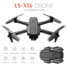 Мини-Дрон 4K 1080P HD с двойной камерой Wi-Fi Fpv давление воздуха поддерживающий высоту складной Квадрокоптер дистанционное управление дроны игру...