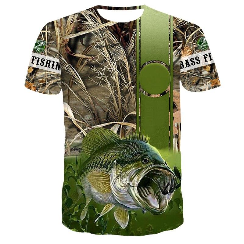 Повседневная модная крутая Высококачественная футболка для мужчин и женщин, популярная рыболовная футболка с 3D принтом, футболка для отдыха с коротким рукавом в стиле Харадзюку|Футболки| | АлиЭкспресс