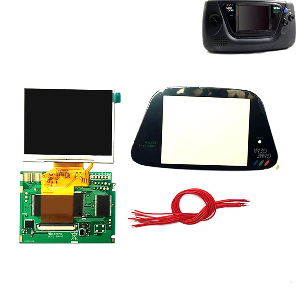 3.5inch Full Display LCD Screen Highlight Screen for Sega Game Gear Game Console LCD Display Screen Modification Kit(China)
