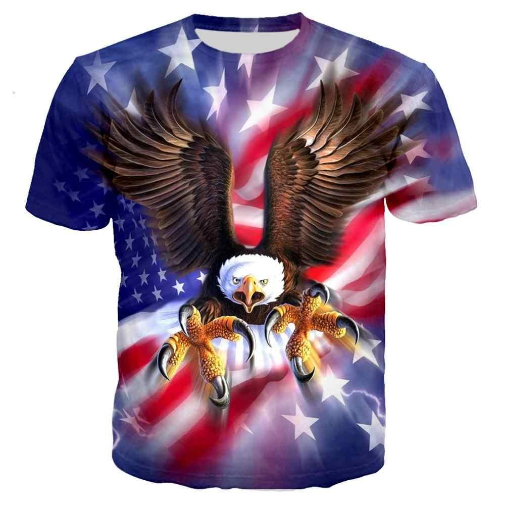 2020 محب العلم الأمريكي ثلاثية الأبعاد طباعة الذهب الولايات المتحدة الأمريكية الشارع الشهير تي شيرت الرجال/النساء عادية الصيف التي شيرت الأولاد الهيب هوب الشرير بلايز/بلايز