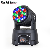 18x3w RGB LED mini Beam moving head lights china Licht Voor dj Podium Verlichting-in Toneelbelichtingseffecten van Licht & verlichting op