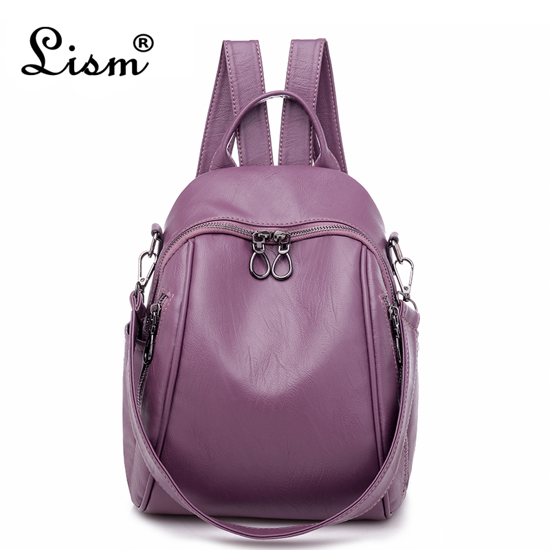 High Quality Backpack Purple Women's School Backpack College Style Backpack Shoulder Bag Female Backpack Casual Mochila