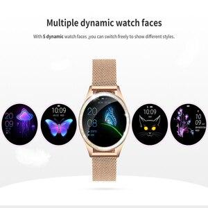 Image 4 - KW20 스마트 시계 여성 IP68 방수 손목 시계 심장 박동 블루투스 시계 여성 팔찌 2019 레이디 시계 VS KW10 Smartwatch.
