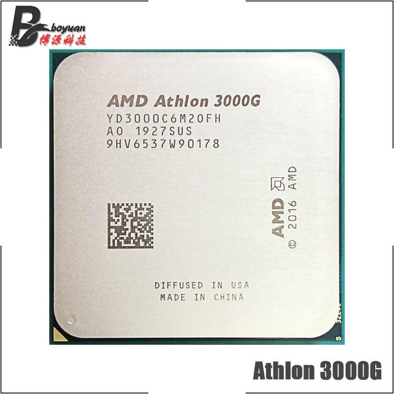 Amd Athlon 3000g X2 3000g 3 5 Ghz Dual Core Quad Thread Cpu Processor Yd3000c6m2ofh Socket Am4 New But Without Cooler Aliexpress