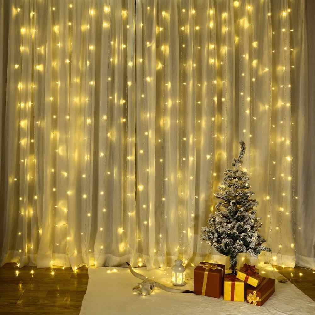 8 Modes USB Remote Control LED Curtain Fairy Strings Lights Xmas birthday wedding party home bedroom garden curtain Decoration