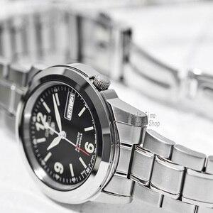 Image 2 - Seiko relógio masculino 5 automático, relógio esportivo de luxo à prova dágua mecânico militar