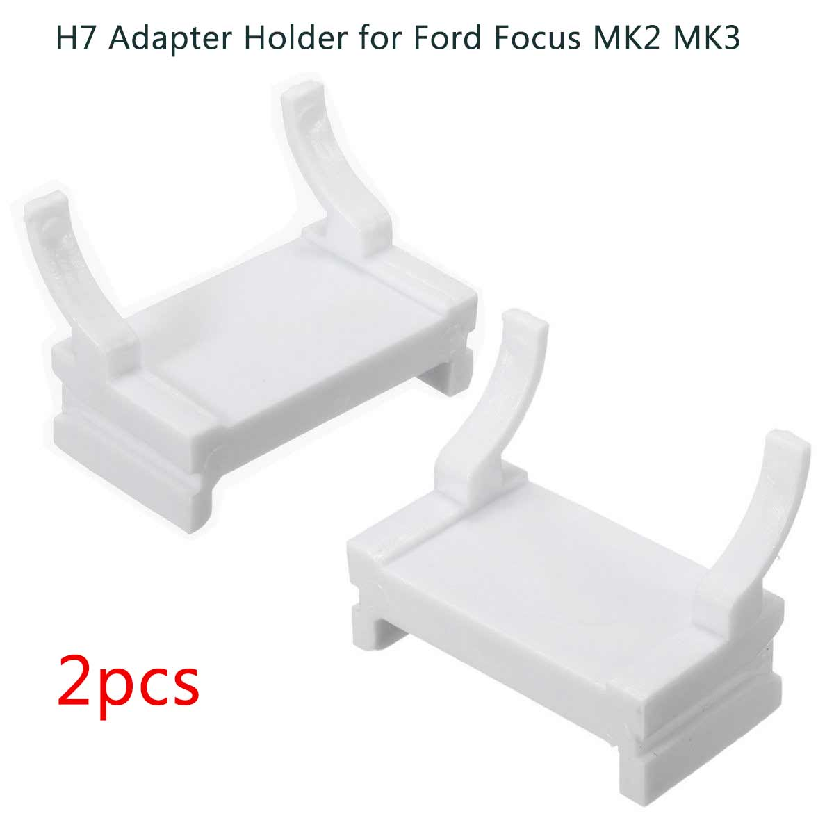 2PCS Car HID H7 Bulbs Adapter Xenon Lamp Holder White Base For Ford Focus MK2 MK3