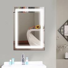 Rectangular Bath Bathroom Mirror Anti Fog Mirror Beauty Makeup LED Mirror Cool White LED Light Wall Mounted Bath Mirrors HWC