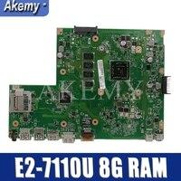 Akemy X540YA עבור ASUS GM X540YA Laotop Mainboard X540Y X540YA D540Y R540Y האם W/E2 7110U 8G RAM|לוחות אם|   -
