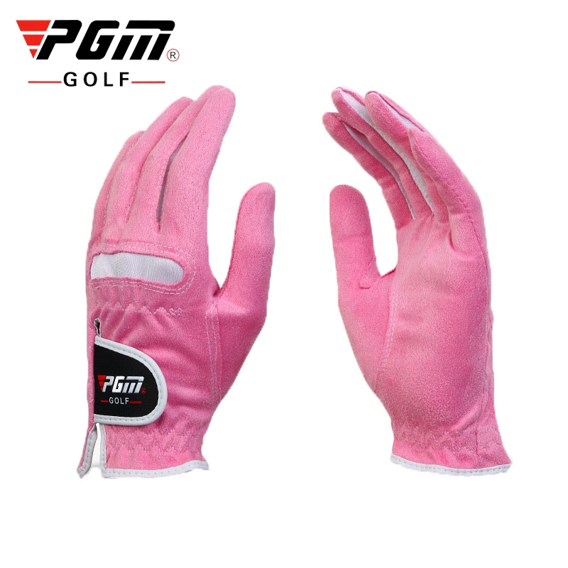 Luvas de Golfe Luvas de Microfibra Feminino Macio Dedos Completos Anti-skid Durável Respirável Golfe Wear Sport Acessório D0016 1 Par