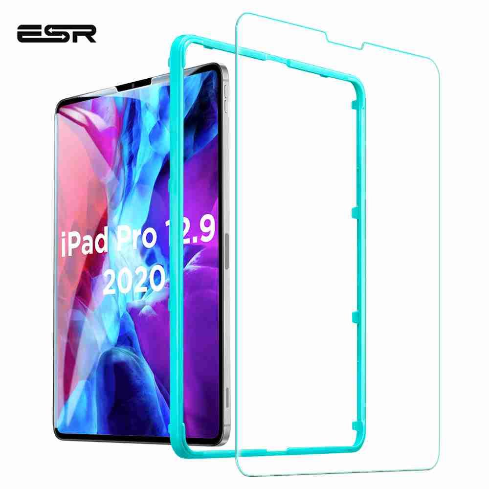 ESR 1pc Tempered Glass for iPad Pro 2020 11 12.9 inch Anti Blue-ray HD 2X Screen Protector for iPad Pro 2020 Glass 4th Generatio