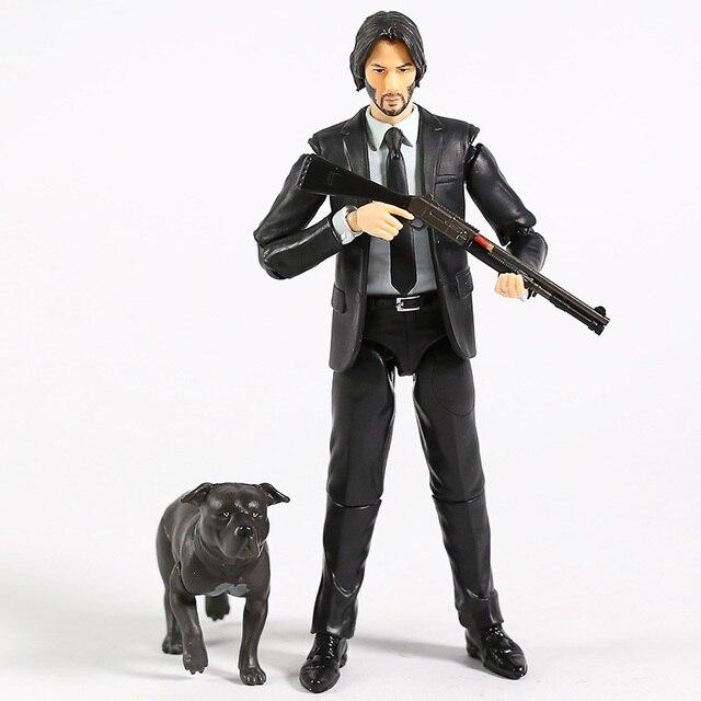 MAFEX 085 John Wick Capitolo 2 Keanu Reeves PVC Action Figure Da Collezione Model Toy
