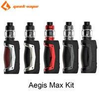 Original GeekVape Aegis Max Kit with Zeus Sub Ohm Tank Mesh Z1 Coil Vaporizer 100W Box MOD Electronic Cigarette Vape Kit Vaper