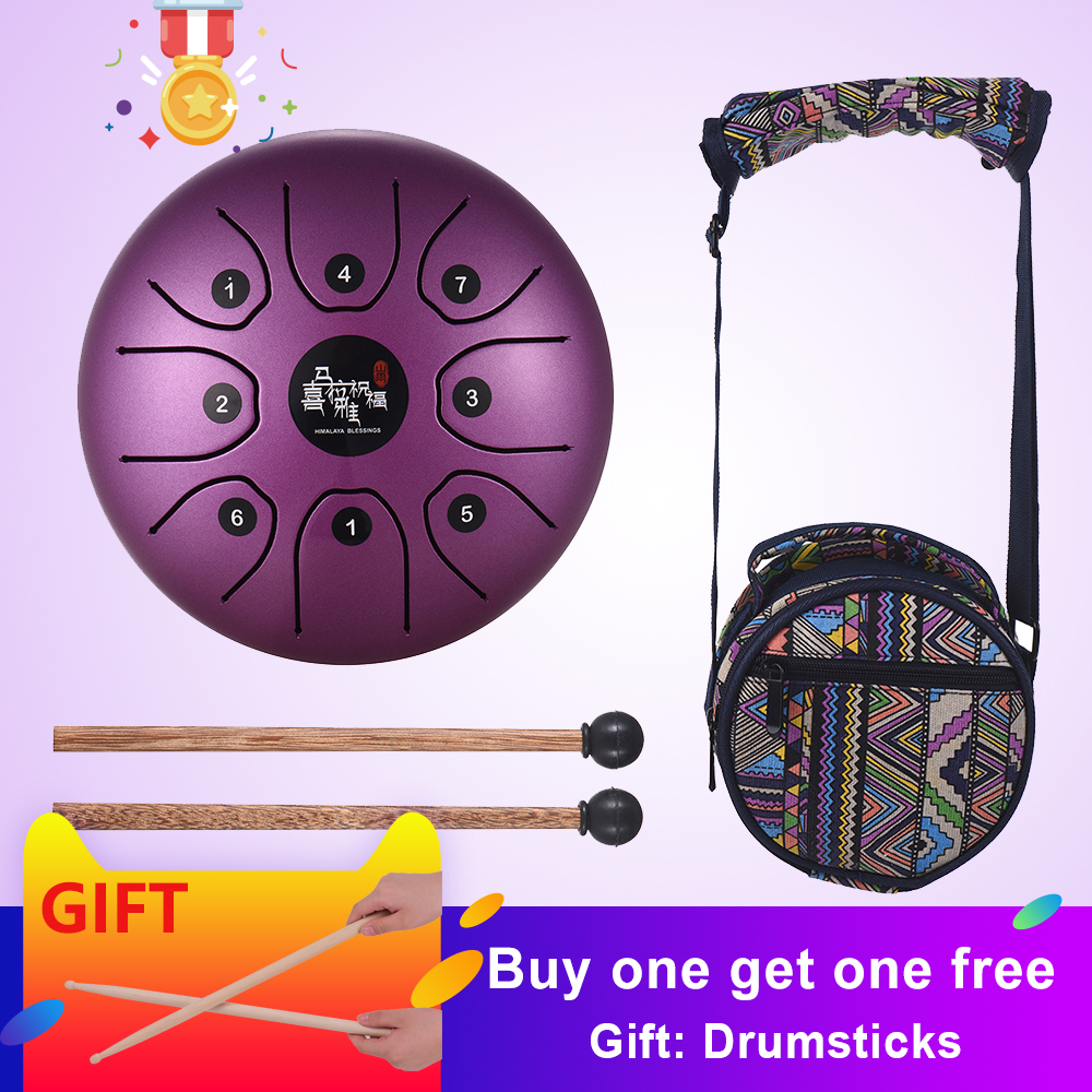 5 5 Inch Mini 8 Tone Steel Tongue Drum C Key Percussion Instrument Hand Pan Drum