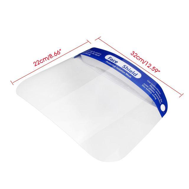 5/10/15/20x Adjustable Face Shield Mask Protection Anti-droplets Face Shield Isolation Lens Visor Anti Saliva Bacteria-proof 5