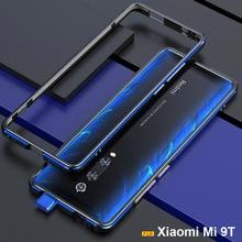 Xiaomi mi 9tケースfundaオリジナル高級光沢のあるアルミバンパーケースxiaomi mi 9tプロ電話カバー金属フレームケース + ギフト