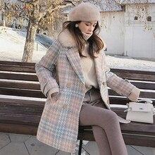 KANCOOLD Женское пальто Верхняя одежда зимняя одежда Модное теплое шерстяное женское элегантное двубортное шерстяное пальто