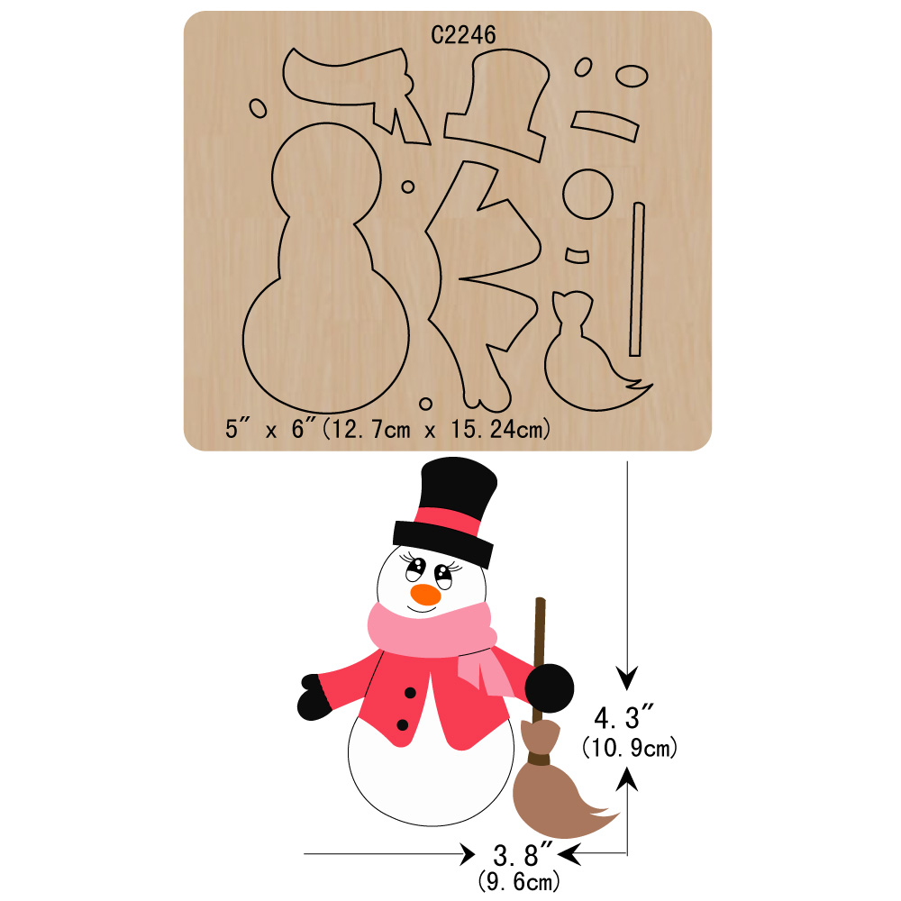 New Christmas Snowman Wooden Die  Scrapbooking C2246 Cutting Dies